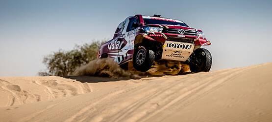 Toyota Hilux стал самым быстрым автомобилем ралли-рейда Dubai International Baja